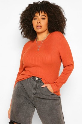 boohoo Plus Ribbed roll/polo neck Jumper