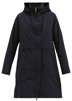 Moncler Schedar Hooded Down Parka - Navy