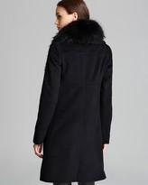 Diane von Furstenberg Coat - Selena Fur Trim