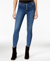 Free People Reagan Raw-Hem Dark Blue Wash Skinny Jeans
