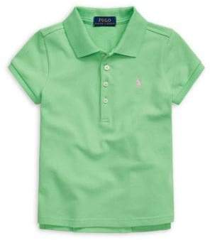 Ralph Lauren Childrenswear Little Girl's Stretch-Cotton Polo