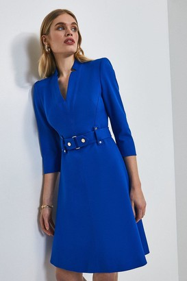 Karen Millen Forever Cinch Waist A-Line Dress