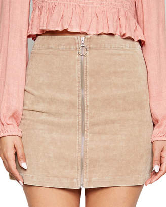 Sadie & Sage Lekha Washed Cord Mini Skirt