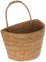 Kouboo La Jolla Handwoven Rattan Wall Basket, Honey Brown, Large