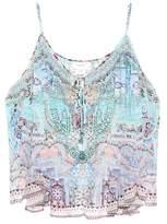 Camilla Embellished silk tank top