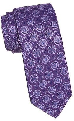 Canali Flower Medallion Silk Tie