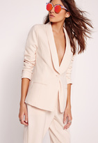 Missguided Tailored Blazer Nude