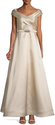 Eliza J Off-The-Shoulder Ball Gown
