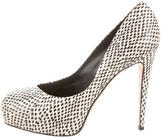Brian Atwood Embossed Platform Pumps