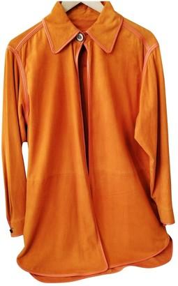 Loewe Orange Suede Knitwear for Women Vintage