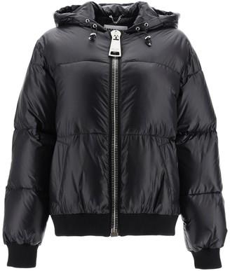 Moschino Logo Print Hooded Jacket