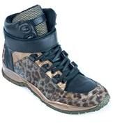 Roberto Cavalli Womens Leopard-print High-top Sneakers.