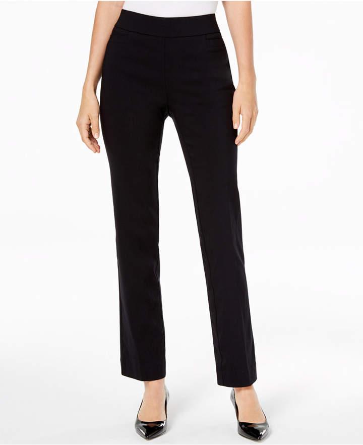 JM Collection Pull-On Slim-Leg Pants