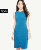Ann Taylor Asymmetric Sheath Dress