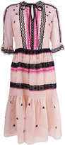 Temperley London poppy field tie dress - women - Silk/Cotton/Spandex/Elastane/Silk Organza - 8