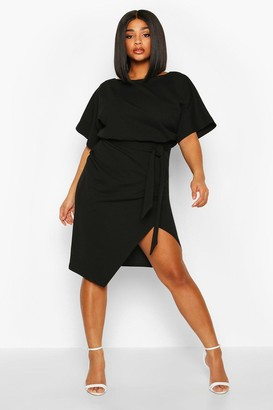 boohoo Plus Double Layer Midi Dress