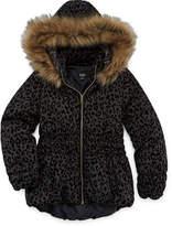 Asstd National Brand by&by Leopard Fleck Puffer Jacket - Girls