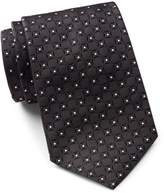 HUGO BOSS Men's Square Pattern Silk Tie, OS