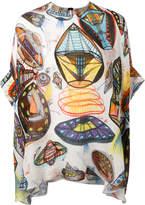 Christopher Kane UFO printed silk top