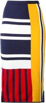 Tommy Hilfiger patchwork print midi skirt - women - Polyamide/Viscose - S