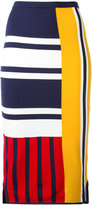 Tommy Hilfiger patchwork print midi skirt