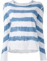 Rag & Bone Jean - striped longlseeved T-shirt - women - Cotton - S