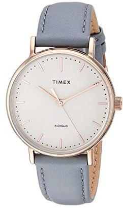 Timex 37 mm Fairfield Leather Strap (Cream/Tan) Watches