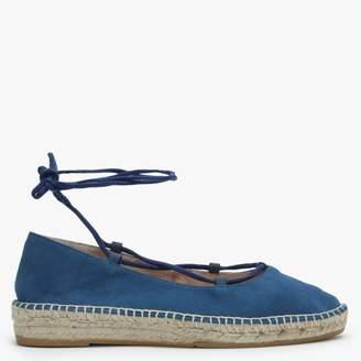 Carmen Saiz Blue Suede Ankle Tie Espadrilles