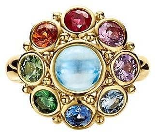 Temple St. Clair Celestial 18K Yellow Gold Multi-Stone Stella Cluster Ring