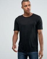 Jack and Jones Longline Linen T-Shirt