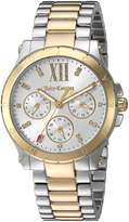 Juicy Couture Women's 1901591 Sport Hollywood 34mm Tt ( Ss/ Gp) Case with White Dial Watch