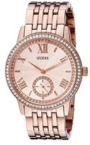 GUESS Women's U0573L3 Classic Rose Gold-Tone Watch with Genuine Crystals