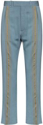 Ann Demeulemeester Stripe Detail Straight-Leg Trousers