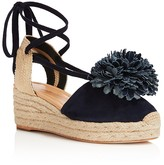 Kate Spade Lafayette Pom-Pom Lace Up Platform Wedge Sandals