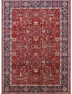 Bungalow Rose Frenchboro Oriental Red Area Rug Rug Size Rectangle 8 X 12 Shopstyle