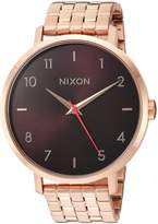 Nixon Women's 'Arrow' Quartz Stainless Steel Casual Watch, Color:Rose Gold-Toned (Model: A10902617-00)