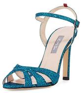 Sarah Jessica Parker Westminster Glitter Strappy Sandal, Blue