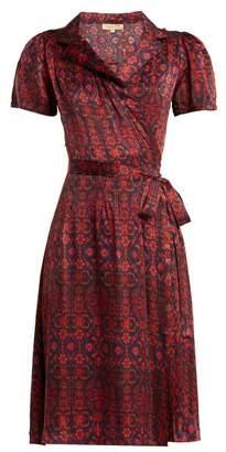 Soraya Muzungu Sisters Silk Wrap Dress - Womens - Red Print