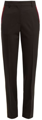 Calvin Klein Side-stripe Stretch-wool Trousers - Black Multi