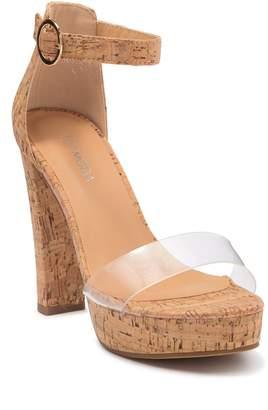 Top Moda Robin Platform Cork Sandal