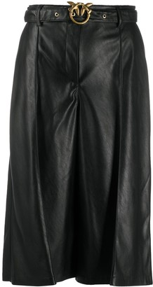 Pinko Cropped Faux-Leather Trousers