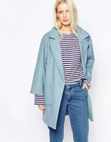 Ganni Inglewood Blue Coat