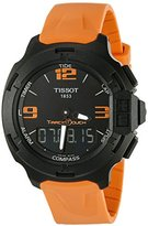 Tissot Men's T0814209705702 T-Race Touch Analog-Digital Black Watch with Orange Band