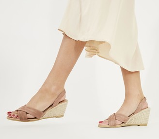 Office Mills WF Slingback Espadrilles Taupe Suede