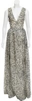 Tory Burch Scribble Patterned Silk Dress w/ Tags