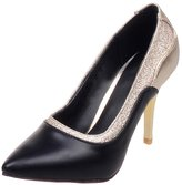 ENMAYER Women's PU Exclusive Designed High Heels Pointed Toe Slip on Pumps 7 B(M) US