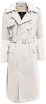 Mr & Mrs Italy Elizabeth Sulcers Capsule Cotton Drill, Metal-free Shearling And Leather Trench For Woman