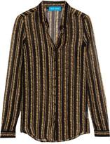 MiH Jeans Evelyn Floral-print Silk-chiffon Shirt - Black
