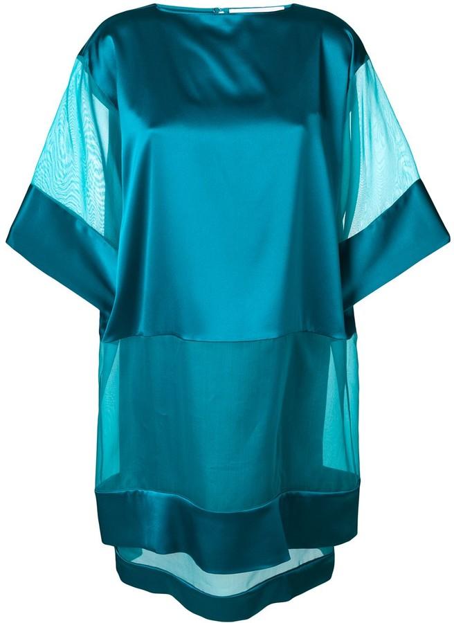 Gianluca Capannolo metallic shift dress