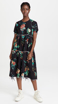 Thumbnail for your product : R 13 Shredded Relaxed Midi Dress